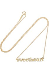 Jennifer Meyer Sweetheart 18 Karat Gold Necklace
