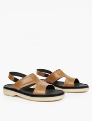 Adieu Tan Leather Type 43 Sandals Brown
