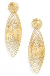 Gas Bijoux Women's 'Long Wave' Drop Earrings