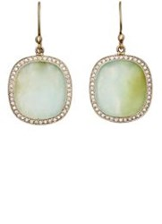 Monique Pean Women's Opal Oval Drop Earrings Colorless