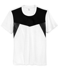 Inc International Concepts Men's Under Oath Colorblocked T Shirt Only At Macy's White Pure