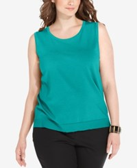 August Silk Plus Size Sleeveless Shell Capri