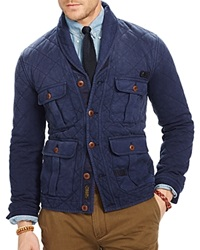 Polo Ralph Lauren Quilted Terry Shawl Cardigan Cruise Navy