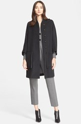 Women's Armani Collezioni Contrast Detail Swing Coat Winter Night