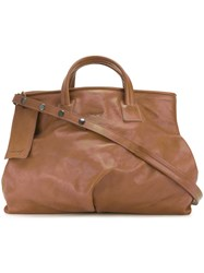 Marsell Classic Tote Bag Women Calf Leather One Size Brown