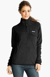 Women's Patagonia 'Re Tool' Snap Pullover Black