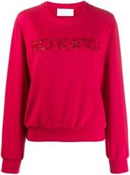 No Ka' Oi Sequin Embroidered Sweatshirt