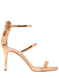 Giuseppe Zanotti 90Mm Harmony Metallic Leather Sandals