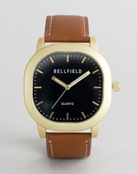 Bellfield Brown Watch With Black Dial