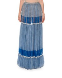 Stella Mccartney Printed Boho Maxi Skirt Blue