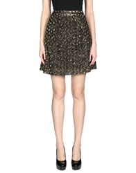 Alice By Temperley Knee Length Skirts Gold