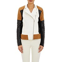 Philosophy Di Lorenzo Serafini Women's Patchwork Leather Jacket Size 0 Us No Color