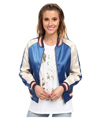Billabong Beach Tripper Bomber Jacket Vivid Blue Women's Coat