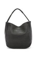 Christopher Kon Micro Weave Hobo Bag Black