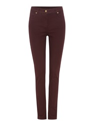 Biba Plain Coloured Skinny Jean Wine