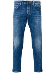 Entre Amis Cropped Skinny Jeans Blue