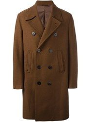 Neil Barrett Double Breasted Overcoat Brown