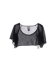 People Knitwear Wrap Cardigans Women Black