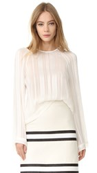 Zeus Dione Melissa Cropped Blouse Ivory