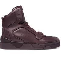 Givenchy Tyson High Top Leather Sneakers Merlot