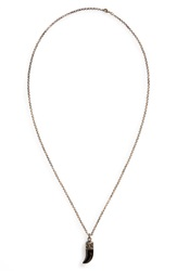Link Up Claw Pendant Necklace Black