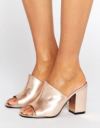 Park Lane Mule Sandal Rose Gold Copper