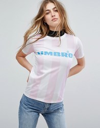 Umbro By Kim Jones T Shirt With Front Logo And Football Stripe Multi