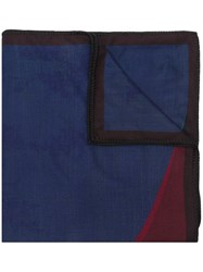 Odeeh Colour Block Knitted Scarf Blue