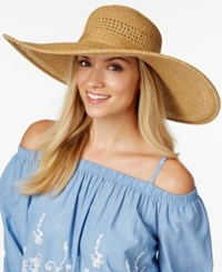 Nine West Packable Sun Hat Neutral