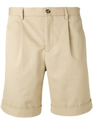 Editions M.R Pleated Shorts Men Cotton 46 Nude Neutrals