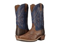 Ariat Heritage Saddleback Narrow Square Toe Copper Kettle Navy Cowboy Boots Brown