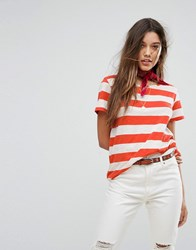Maison Scotch Loose Fit Stripey T Shirt 17 Combo A Red