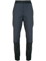 Tibi Quilted Combo Joggers Blue