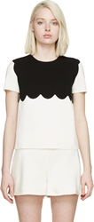 Giambattista Valli Black And White Scalloped Top