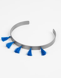 Ileana Makri Summer Titan Choker Necklace Grey D.Blue