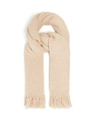 Lauren Manoogian Fringed Basket Weave Scarf Beige