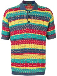 Missoni Vintage Knitted Polo Shirt Yellow