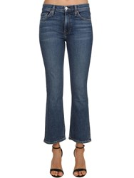 Re Done Mini Flare Mid Rise Stretch Denim Jeans Blue