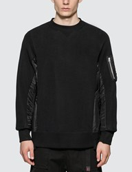 Sacai Sponge Sweat X Ma 1 Pullover Black
