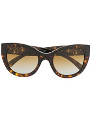 Bulgari Serpenti Enamel Crystals Sunglasses Brown