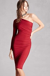 Forever 21 Ruched One Shoulder Dress