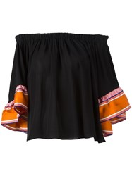 Emilio Pucci Off The Shoulder Blouse Black