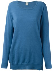 Massimo Alba Fine Knit Jumper Blue