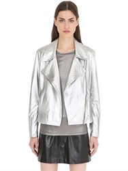Siran Metallic Nappa Leather Biker Jacket