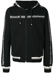 Dolce And Gabbana Goodtimes Zip Hoodie Black