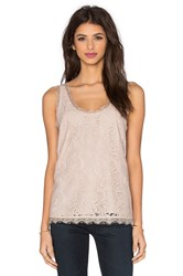 Joie Brinx Lace Tank Taupe