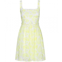 Christopher Kane Lace Dress Yellow White