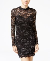Material Girl Juniors' Open Back Lace Bodycon Dress Only At Macy's Black Combo