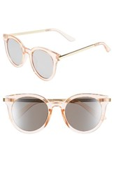 A. J. Morgan Women's A.J. Hi There 50Mm Mirrored Round Sunglasses Pink Mirror Pink Mirror