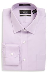 Men's Nordstrom Men's Shop Classic Fit Non Iron Solid Dress Shirt Lavender Spray